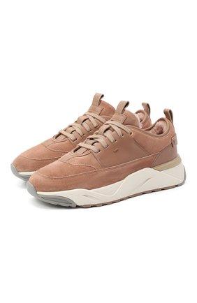 Женские замшевые кроссовки SANTONI светло-розового цвета, арт. WBI060756BGPPPA0P45 | Фото 1