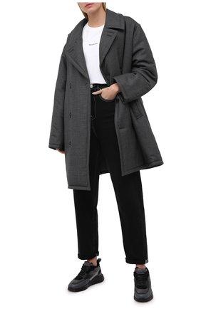Женские кожаные кроссовки SANTONI черного цвета, арт. WBKI60613NEGPLRAN55 | Фото 2