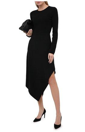 Женская замшевые туфли SANTONI черного цвета, арт. WDA058871HA2TLKSN01 | Фото 2