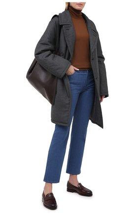 Женские кожаные лоферы SANTONI бордового цвета, арт. WUQR59036BYRAILKB40 | Фото 2