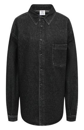 Женская джинсовая рубашка VETEMENTS черного цвета, арт. UAH21SH043 2801/W | Фото 1