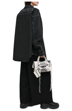Женская джинсовая рубашка VETEMENTS черного цвета, арт. UAH21SH043 2801/W | Фото 2