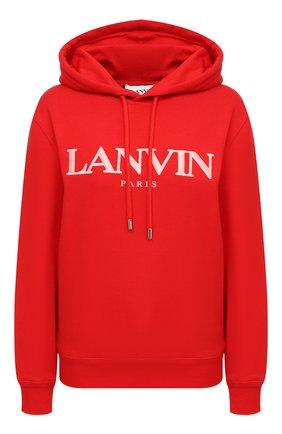 Женская хлопковое худи LANVIN красного цвета, арт. RW-T0698J-JR32-H20 | Фото 1