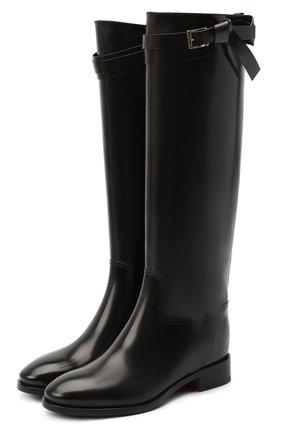 Женские кожаные сапоги SANTONI черного цвета, арт. WSNH58990BJ2NLESN20 | Фото 1