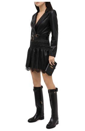 Женские кожаные сапоги SANTONI черного цвета, арт. WSNH58990BJ2NLESN20 | Фото 2