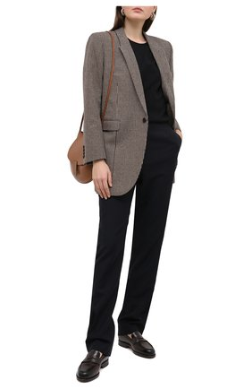 Женские кожаные лоферы SANTONI темно-коричневого цвета, арт. WUQR59036BYRAILKT50 | Фото 2