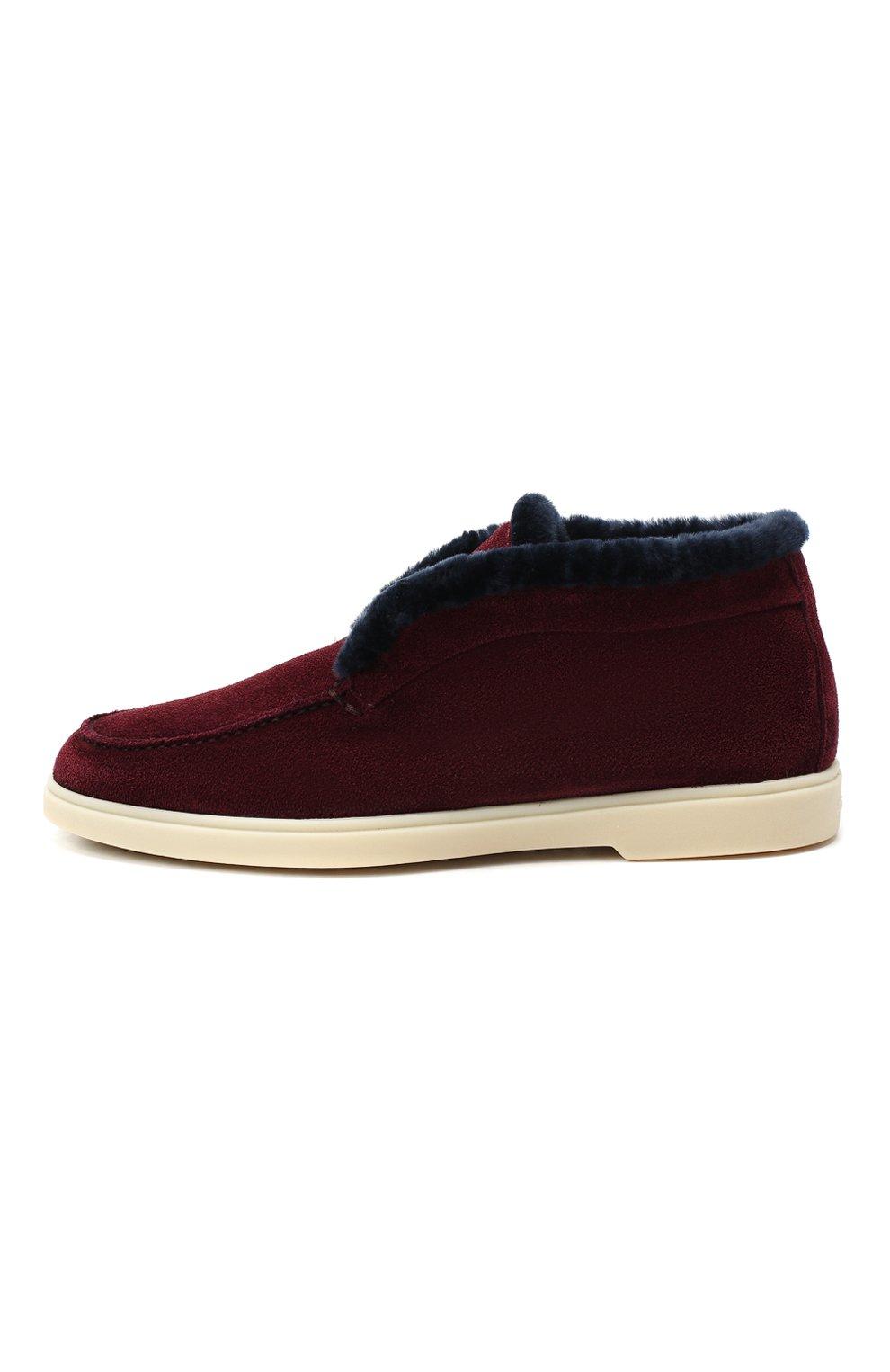 Женские замшевые ботинки SANTONI бордового цвета, арт. WUYA58457TISAPFCB90 | Фото 3