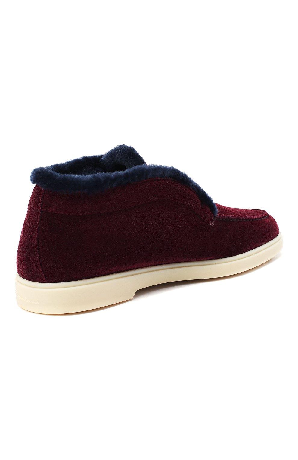 Женские замшевые ботинки SANTONI бордового цвета, арт. WUYA58457TISAPFCB90 | Фото 4
