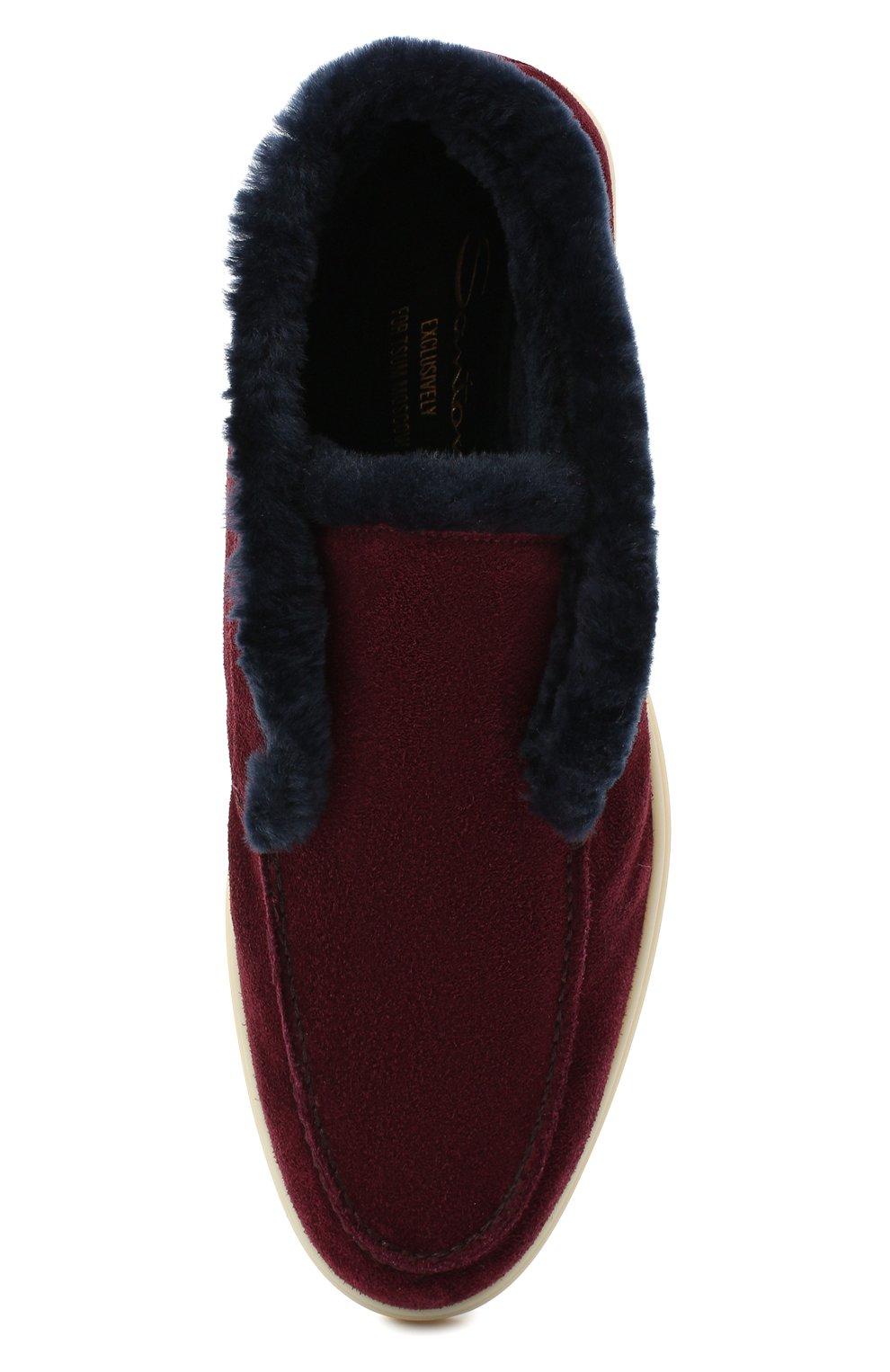 Женские замшевые ботинки SANTONI бордового цвета, арт. WUYA58457TISAPFCB90 | Фото 5