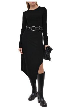 Женское платье из шерсти и кашемира BARBARA BUI черного цвета, арт. W4218WXA | Фото 2