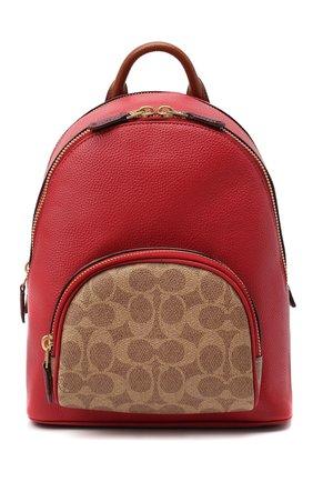 Женский рюкзак carrie small COACH красного цвета, арт. 657 | Фото 1