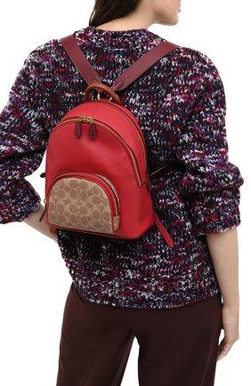 Женский рюкзак carrie small COACH красного цвета, арт. 657 | Фото 2