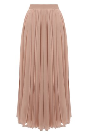 Женская шелковая юбка VALENTINO бежевого цвета, арт. UB0RA6U02UP | Фото 1