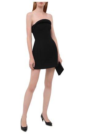 Женское платье из вискозы VERSACE черного цвета, арт. A87641/A237082 | Фото 2