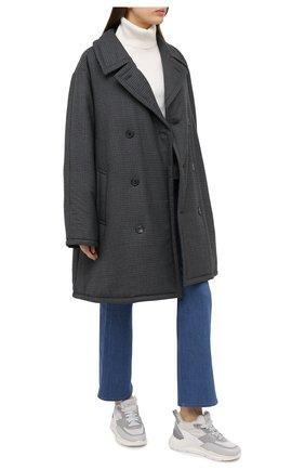 Женские кожаные кроссовки SANTONI светло-серого цвета, арт. WBKI60613AGGPLRAG41 | Фото 2