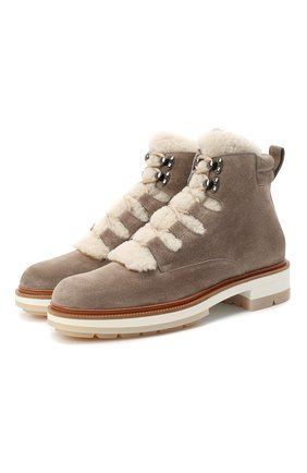 Женские замшевые ботинки SANTONI серого цвета, арт. WTSL58814R0CAYPBM40 | Фото 1