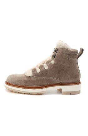 Женские замшевые ботинки SANTONI серого цвета, арт. WTSL58814R0CAYPBM40 | Фото 3