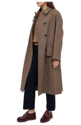 Женская кожаные монки SANTONI бордового цвета, арт. WUHW59042B0RNLESB50 | Фото 2