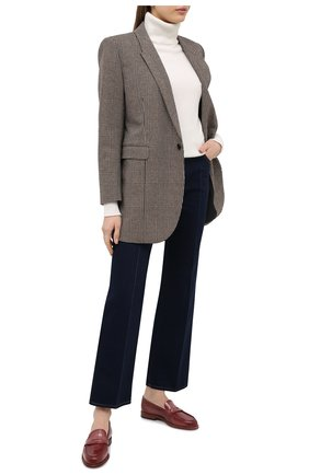 Женские кожаные лоферы SANTONI коричневого цвета, арт. WUQU58984BA1NVCRP85 | Фото 2