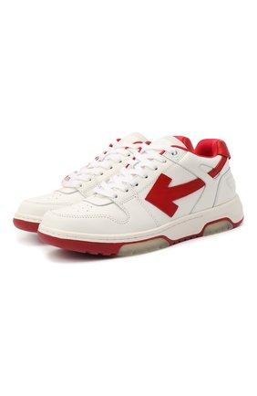 Женские кожаные кроссовки OFF-WHITE красного цвета, арт. 0WIA259F20LEA0010125   Фото 1