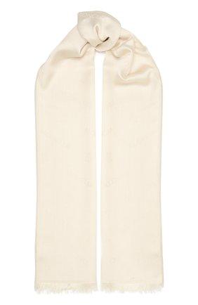 Женский шарф из шерсти и шелка MONCLER белого цвета, арт. F2-093-3C714-00-A0149 | Фото 1