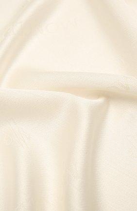 Женский шарф из шерсти и шелка MONCLER белого цвета, арт. F2-093-3C714-00-A0149 | Фото 2