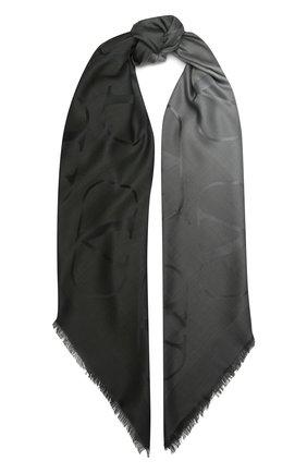 Женская шаль из шелка и шерсти VALENTINO серого цвета, арт. UW0EB104/ZVG | Фото 1