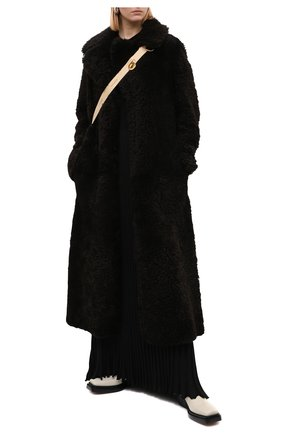 Женские кожаные ботинки bv lean  BOTTEGA VENETA кремвого цвета, арт. 639831/V00M0 | Фото 2