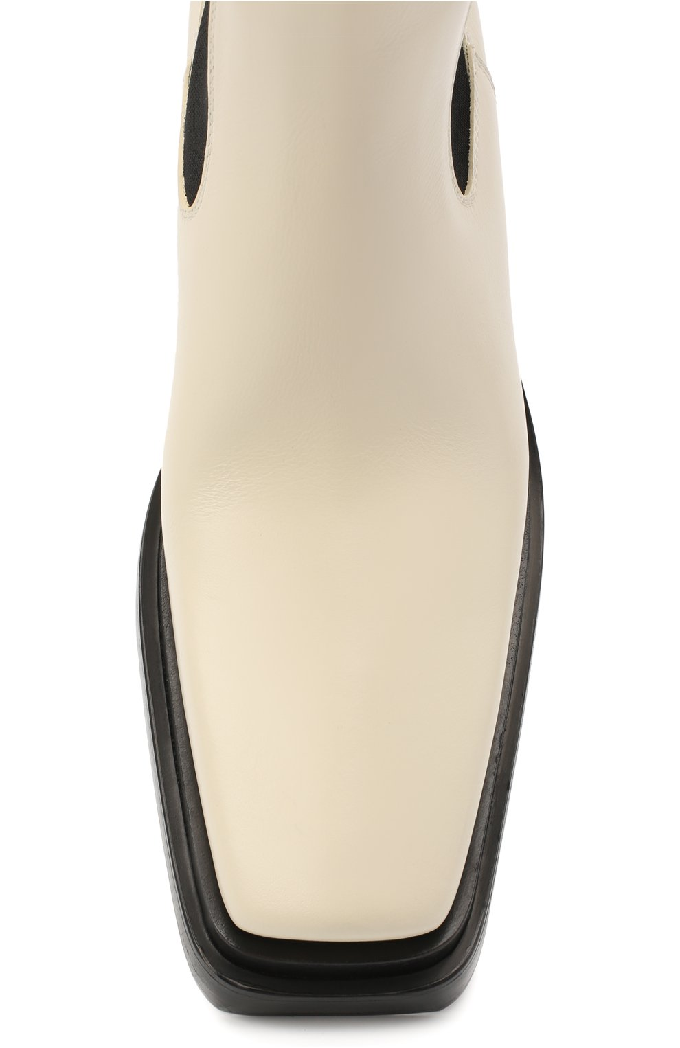 Женские кожаные ботинки bv lean  BOTTEGA VENETA кремвого цвета, арт. 639831/V00M0   Фото 5