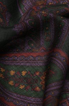 Мужские кашемировый шарф RALPH LAUREN фиолетового цвета, арт. 434825749 | Фото 2
