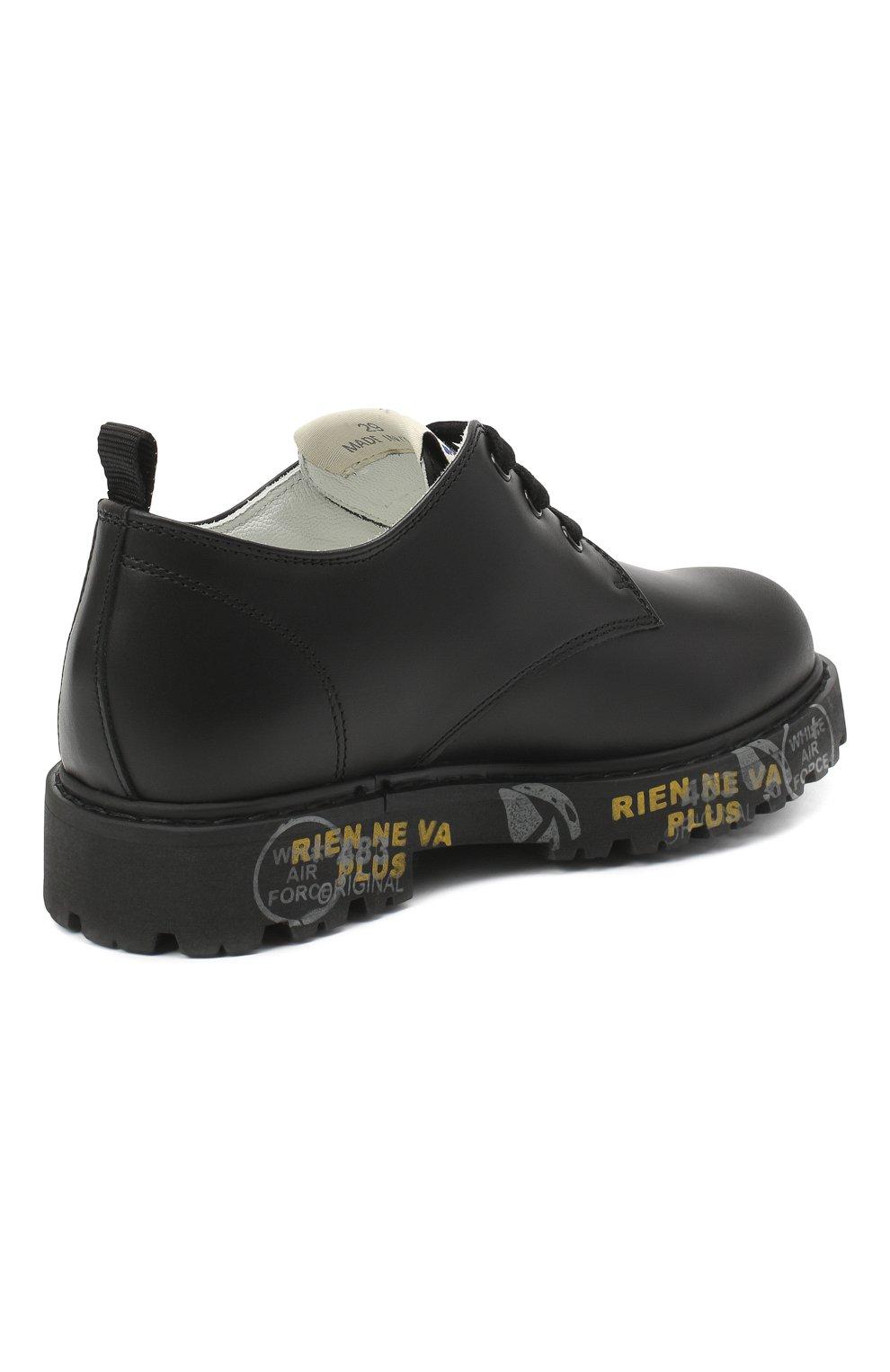 Детские кожаные туфли PREMIATA WILL BE черного цвета, арт. G0-URBAN/11-221470/CHILD | Фото 3 (Материал внутренний: Натуральная кожа)
