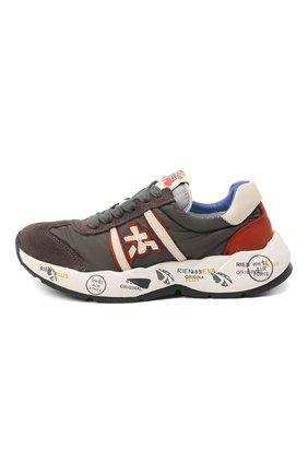 Детские кроссовки PREMIATA WILL BE серого цвета, арт. LAVY/11-131479/CHILD | Фото 2 (Материал внутренний: Натуральная кожа; Материал внешний: Текстиль)