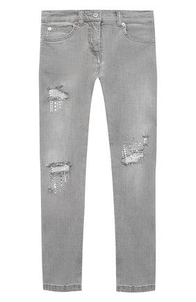 Детские джинсы ERMANNO SCERVINO серого цвета, арт. 47I JL06 JNS/4-8 | Фото 1