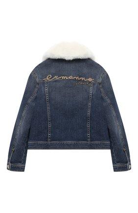 Детская джинсовая куртка ERMANNO SCERVINO голубого цвета, арт. 47I CP08 JNS/4-8 | Фото 2