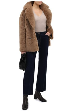 Женский пуловер BRUNELLO CUCINELLI бежевого цвета, арт. M41822902 | Фото 2