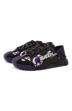 Женские комбинированные кроссовки ns1 DOLCE & GABBANA фиолетового цвета, арт. CK1754/AX908 | Фото 1