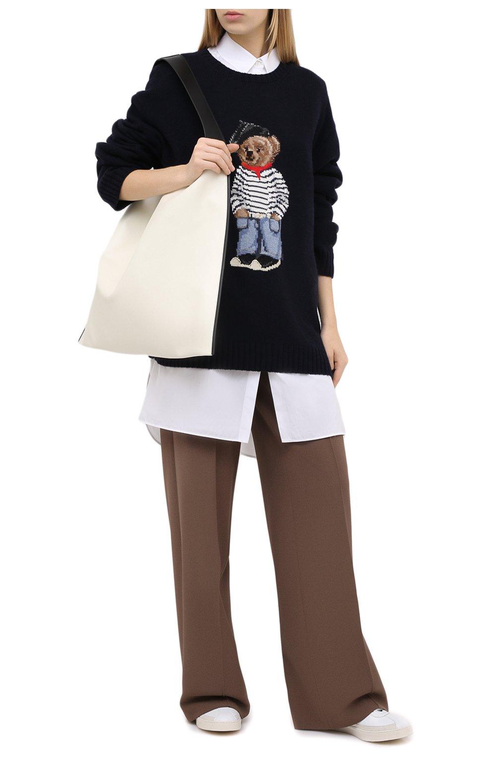 Женский кашемировый пуловер RALPH LAUREN темно-синего цвета, арт. 293829121 | Фото 2