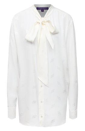 Женская блузка из вискозы и шелка RALPH LAUREN кремвого цвета, арт. 293829104 | Фото 1