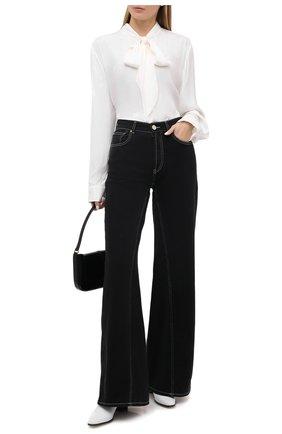 Женская блузка из вискозы и шелка RALPH LAUREN кремвого цвета, арт. 293829104 | Фото 2