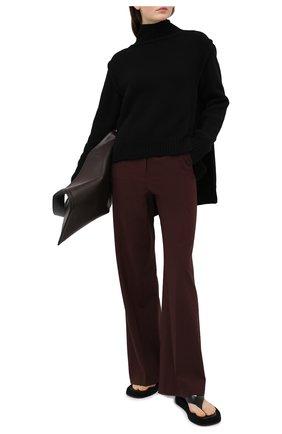 Женский кашемировый свитер JIL SANDER черного цвета, арт. JSWR754301-WRY10048 | Фото 2