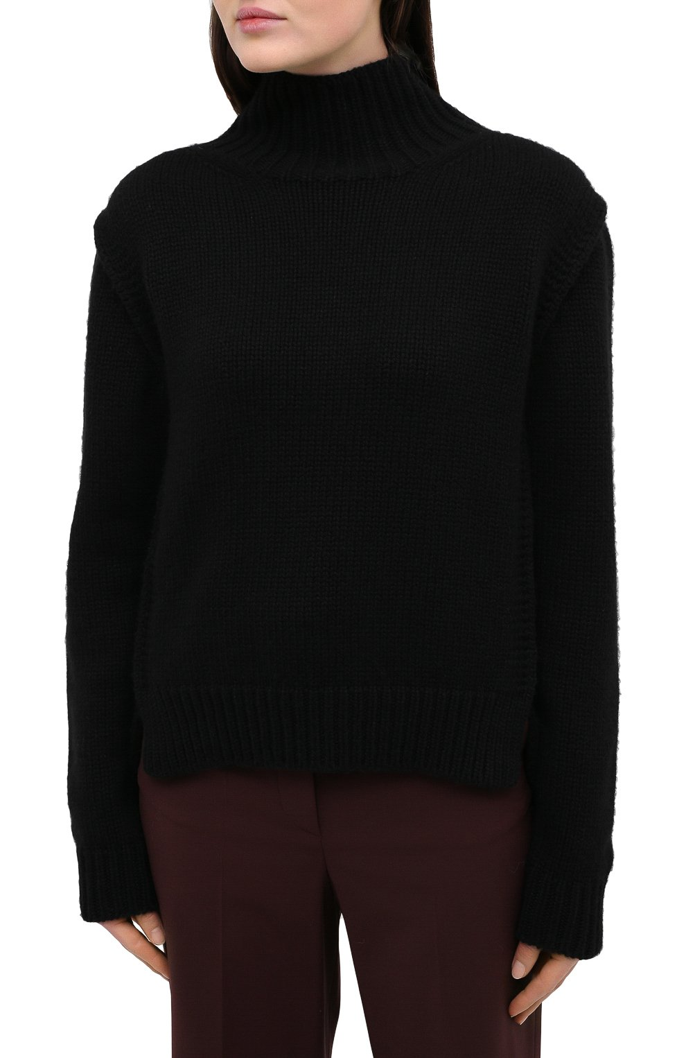 Женский кашемировый свитер JIL SANDER черного цвета, арт. JSWR754301-WRY10048 | Фото 3