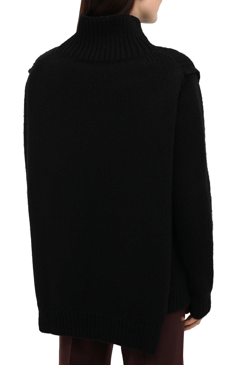 Женский кашемировый свитер JIL SANDER черного цвета, арт. JSWR754301-WRY10048 | Фото 4