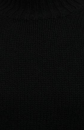 Женский кашемировый свитер JIL SANDER черного цвета, арт. JSWR754301-WRY10048 | Фото 5