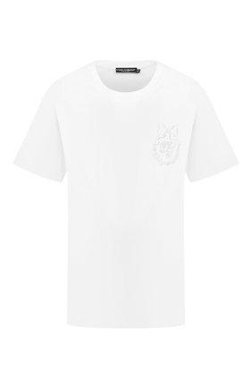 Женская хлопковая футболка DOLCE & GABBANA белого цвета, арт. F8M66Z/G7XHC | Фото 1