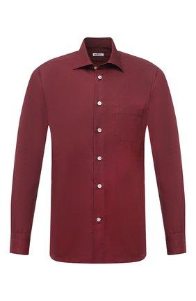 Мужская хлопковая рубашка KITON бордового цвета, арт. UMCNERK0740904 | Фото 1