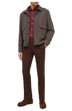 Мужская хлопковая рубашка KITON бордового цвета, арт. UMCNERK0740904 | Фото 2