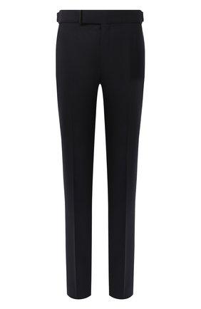 Мужские шерстяные брюки TOM FORD темно-синего цвета, арт. 822R23/61004J | Фото 1