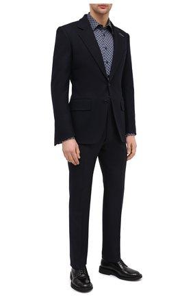 Мужские шерстяные брюки TOM FORD темно-синего цвета, арт. 822R23/61004J | Фото 2