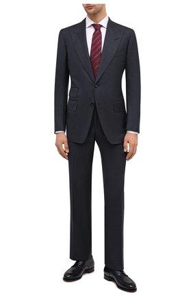 Мужской шерстяной костюм TOM FORD темно-синего цвета, арт. 811R51/21AL41 | Фото 1