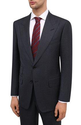 Мужской шерстяной костюм TOM FORD темно-синего цвета, арт. 811R51/21AL41 | Фото 2